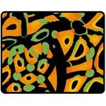 Abstract animal print Double Sided Fleece Blanket (Medium)
