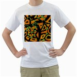Abstract animal print Men s T-Shirt (White)