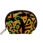 Abstract animal print Accessory Pouches (Small)