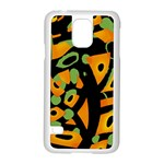 Abstract animal print Samsung Galaxy S5 Case (White)
