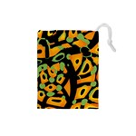 Abstract animal print Drawstring Pouches (Small)