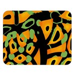 Abstract animal print Double Sided Flano Blanket (Large)