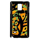 Abstract animal print Samsung Galaxy Note 4 Case (Black)
