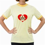 My Newfie Loves Me Women s Fitted Ringer T-Shirts