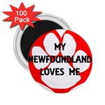 My Newfie Loves Me 2.25  Magnets (100 pack)