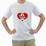 My Newfie Loves Me Men s T-Shirt (White) (Two Sided)