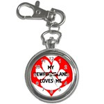 My Newfie Loves Me Key Chain Watches