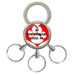 My Newfie Loves Me 3-Ring Key Chains
