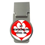My Newfie Loves Me Money Clips (Round)