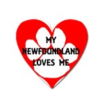 My Newfie Loves Me Heart Magnet