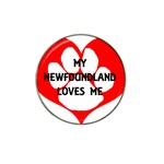 My Newfie Loves Me Hat Clip Ball Marker (4 pack)