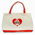 My Newfie Loves Me Classic Tote Bag (Red)