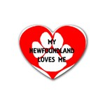My Newfie Loves Me Heart Coaster (4 pack)