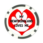 My Newfie Loves Me Poker Chip Card Guards