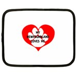 My Newfie Loves Me Netbook Case (Large)