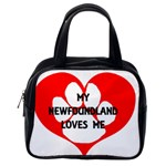 My Newfie Loves Me Classic Handbags (One Side)