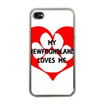 My Newfie Loves Me Apple iPhone 4 Case (Clear)