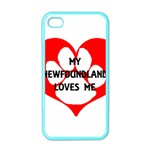 My Newfie Loves Me Apple iPhone 4 Case (Color)