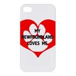 My Newfie Loves Me Apple iPhone 4/4S Hardshell Case