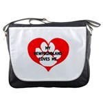 My Newfie Loves Me Messenger Bags