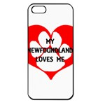 My Newfie Loves Me Apple iPhone 5 Seamless Case (Black)