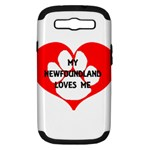 My Newfie Loves Me Samsung Galaxy S III Hardshell Case (PC+Silicone)