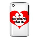 My Newfie Loves Me Apple iPhone 3G/3GS Hardshell Case (PC+Silicone)