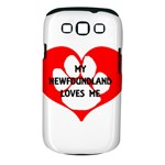 My Newfie Loves Me Samsung Galaxy S III Classic Hardshell Case (PC+Silicone)