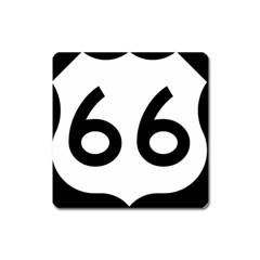 U S  Route 66 Square Magnet by abbeyz71