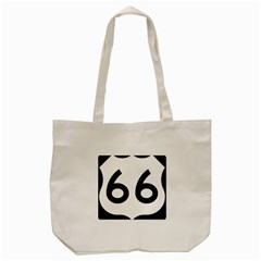 U S  Route 66 Tote Bag (cream) by abbeyz71