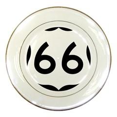 U S  Route 66 Porcelain Plates by abbeyz71