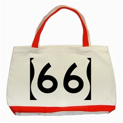 U S  Route 66 Classic Tote Bag (red) by abbeyz71
