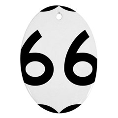 U S  Route 66 Oval Ornament (two Sides) by abbeyz71