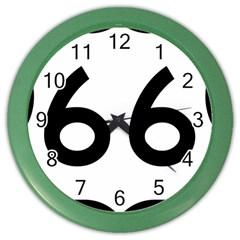 U S  Route 66 Color Wall Clocks by abbeyz71