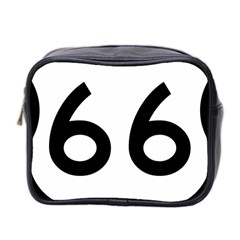 U S  Route 66 Mini Toiletries Bag 2 Side by abbeyz71