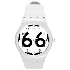 U S  Route 66 Round Plastic Sport Watch (m) by abbeyz71