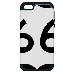 U S  Route 66 Apple Iphone 5 Hardshell Case (pc+silicone) by abbeyz71
