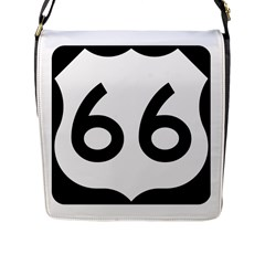 U S  Route 66 Flap Messenger Bag (l)  by abbeyz71