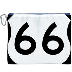 U S  Route 66 Canvas Cosmetic Bag (xxxl) by abbeyz71