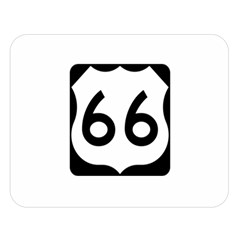 U S  Route 66 Double Sided Flano Blanket (large)  by abbeyz71