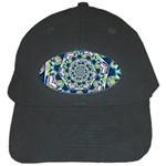 Power Spiral Polygon Blue Green White Black Cap