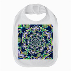 Power Spiral Polygon Blue Green White Bib by EDDArt