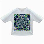 Power Spiral Polygon Blue Green White Infant/Toddler T-Shirts
