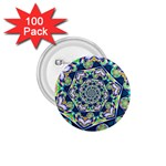Power Spiral Polygon Blue Green White 1.75  Buttons (100 pack)