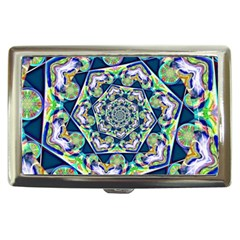 Power Spiral Polygon Blue Green White Cigarette Money Cases by EDDArt