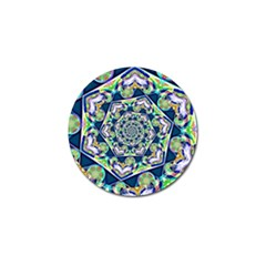 Power Spiral Polygon Blue Green White Golf Ball Marker (10 Pack) by EDDArt