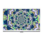 Power Spiral Polygon Blue Green White Business Card Holders