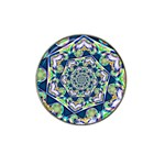 Power Spiral Polygon Blue Green White Hat Clip Ball Marker (10 pack)
