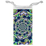Power Spiral Polygon Blue Green White Jewelry Bags