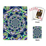 Power Spiral Polygon Blue Green White Playing Card